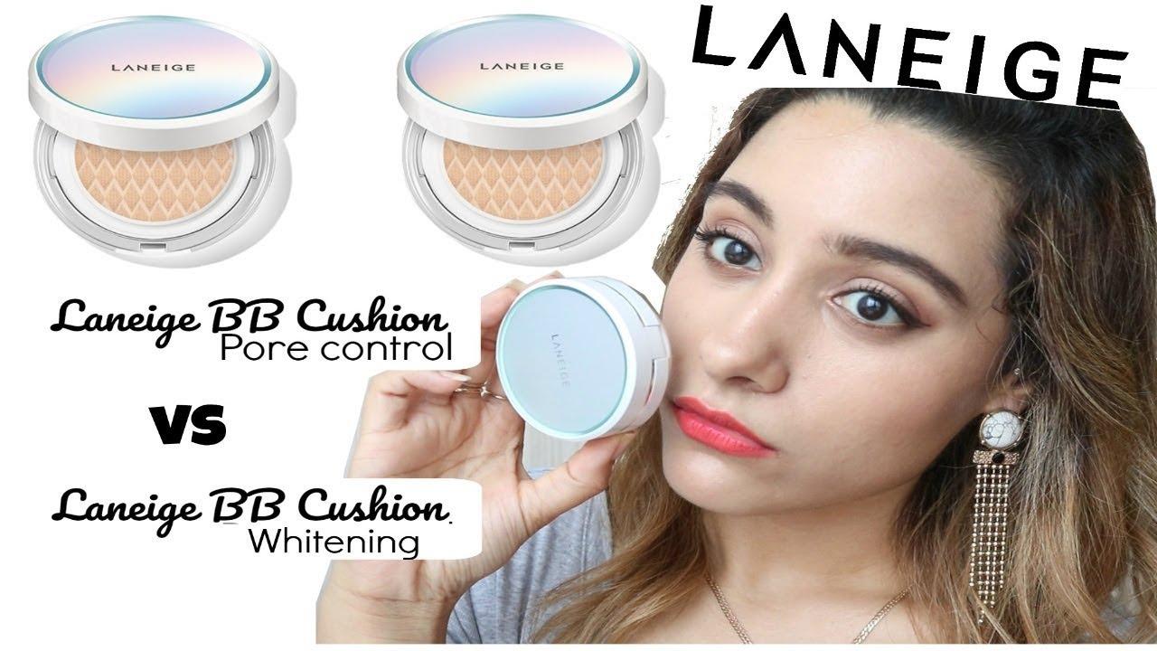 Laneige Bb Cushion New Pore Control Vs Whitening Cushion Cushion Comparison