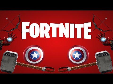 Fortnite All Avengers Weapons (showcase)