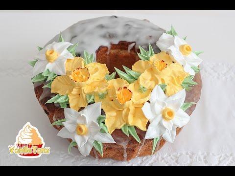 Anleitung Oster Torten Mit Creme Blumen Dekorieren Youtube