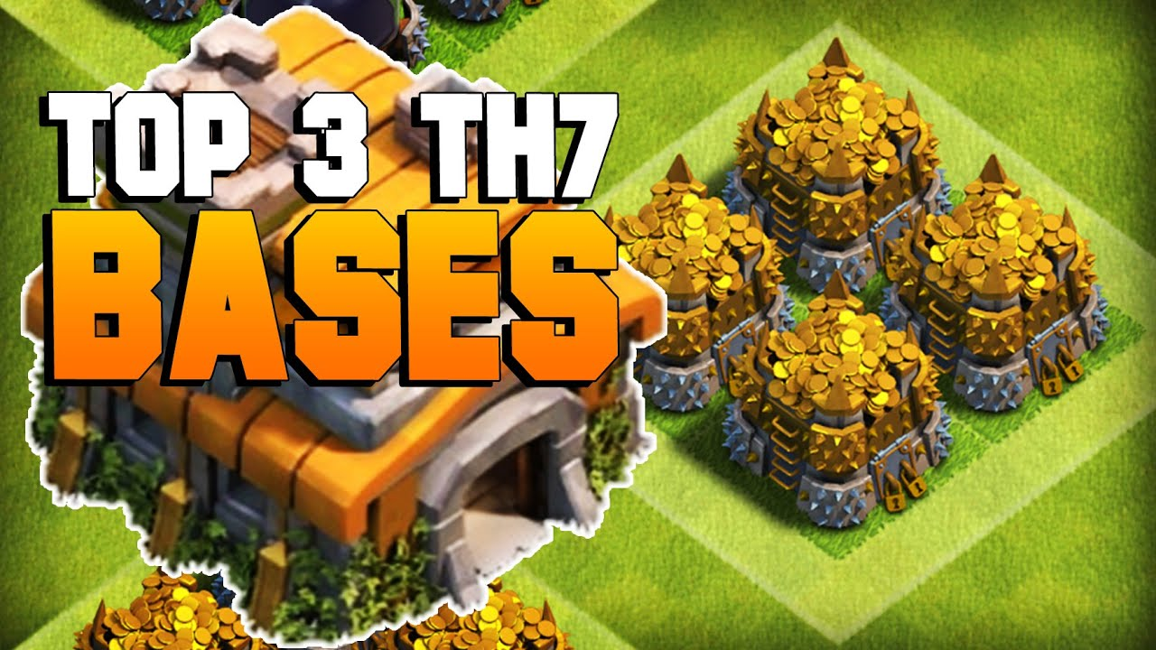 Clash Of Clans Top 3 Th7 Farming Base 2016 Coc Best Town Hall 7 Defense Th7 2016 Clashtrack Com