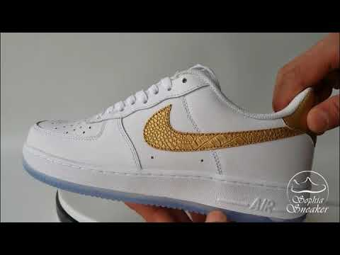 f04f9ee7865 Sophia Sneakers UA Air Force 1 Low CR7 Gold Logo White Unboxing Reveiew