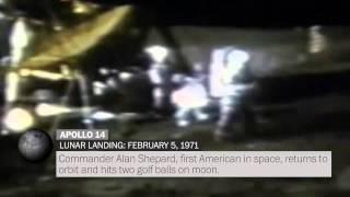 Six Apollo moon landings, captured on video