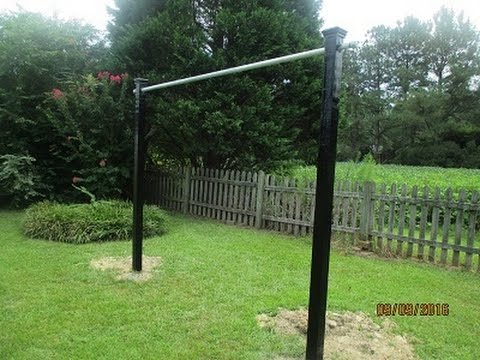 How To Build A Pull Up Bar, (Outside) !!   YouTube