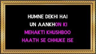Humne Dekhi Hai Un Aankhon Ki - Karaoke - Khamoshi - Lata Mangeshkar