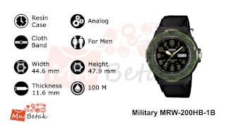 casio watch military look mrw 200hb 1b ساعه يد رجالى كاسيو mnbetak com official video