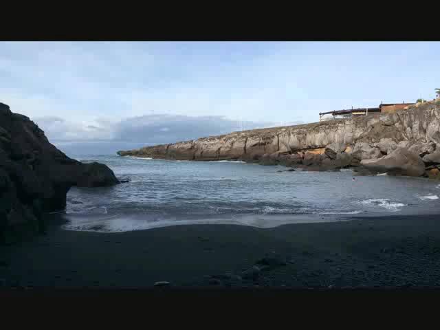 Playa las Galgas in stop motion