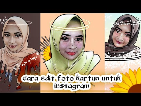cara edit foto kartun untuk instagram | make up in foto ...