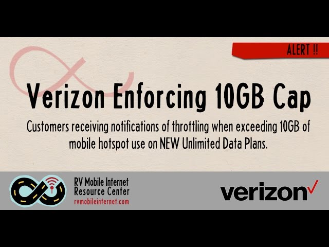 Verizon Begins Enforcing 10GB High Speed Mobile Hotspot Cap on NEW  Unlimited Data Plans