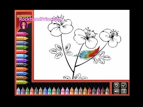 Flower Coloring Flowers To Color In Flower Pictures Youtube