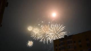 Новогодний салют в Рязани 2017 на площади Победы