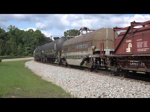 BNSF SD70MAC #9599 leads 12X at Lynn, Alabama