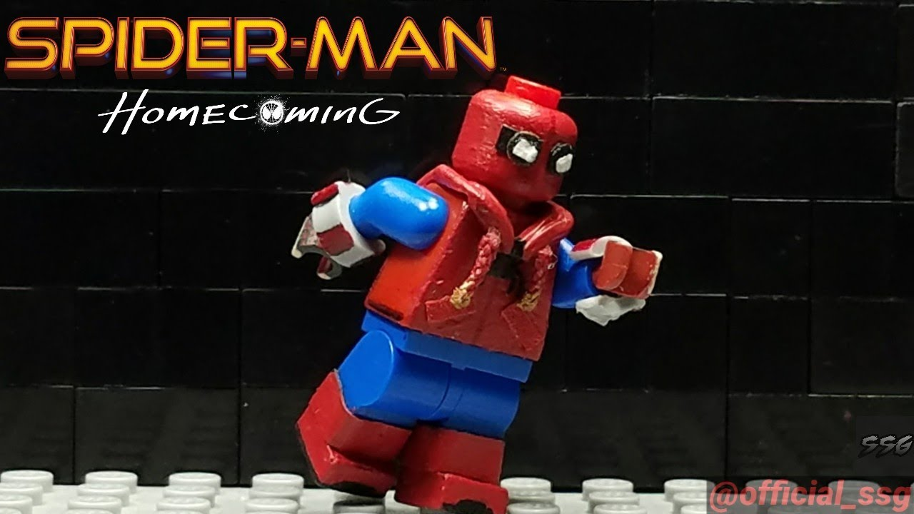 Custom Lego Spiderman Homecoming Homemade Suit Minifigure - How to make homemade lego decals