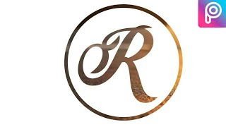 Wie erstellen logo R in mobile | wie logo erstellen, in picsart in telugu na tech