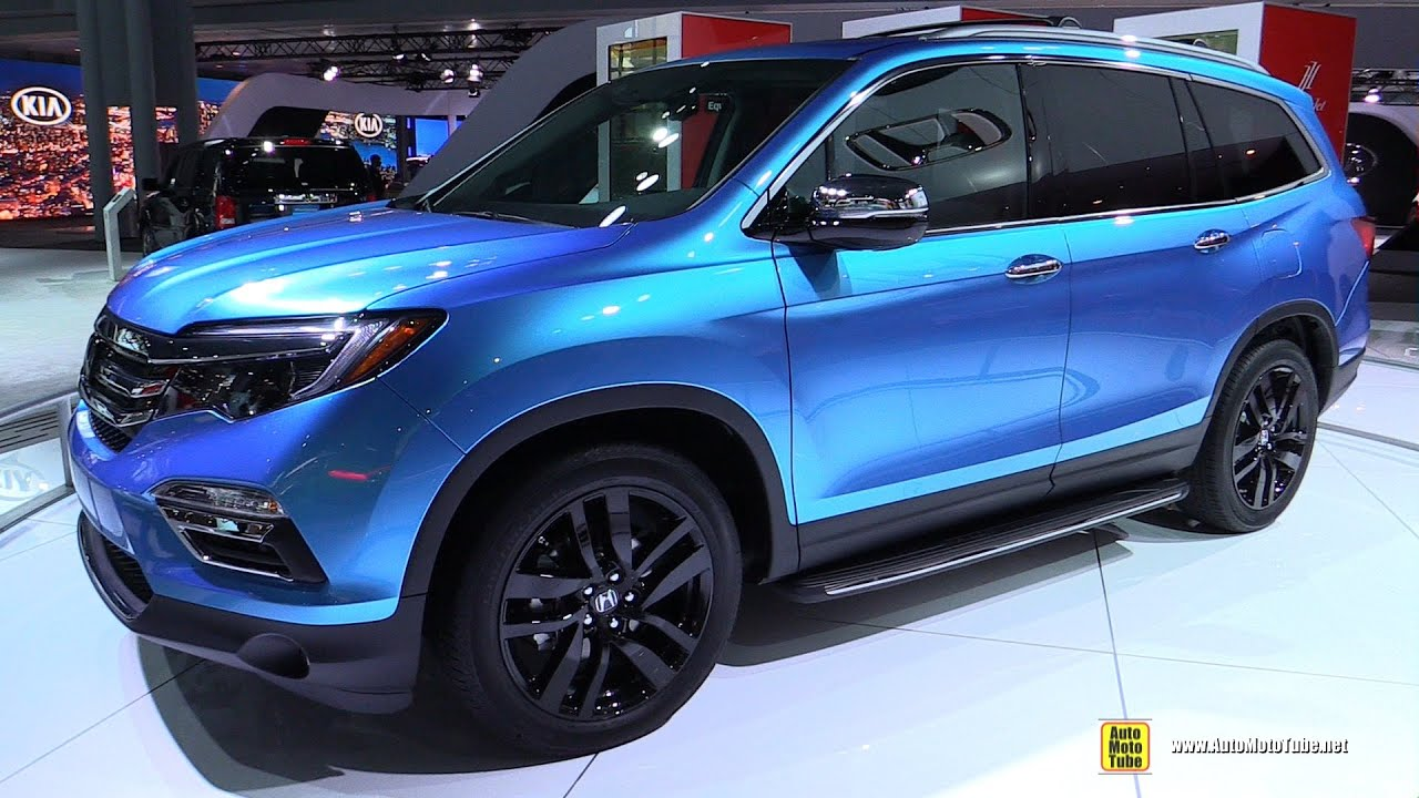 2016 Honda Pilot   Exterior, Interior, Trunk, Engine Walkaround   2015 New  York Auto Show   YouTube