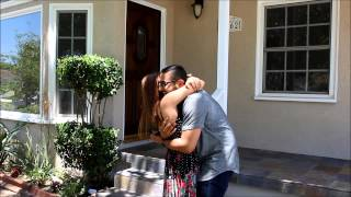 Andrew (Karinas boyfriend) proposes while they get the keys to their new home.