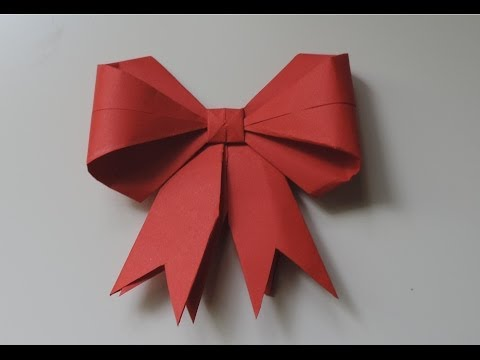 How To Make A Paper Bow / Ribbon . (Full HD)