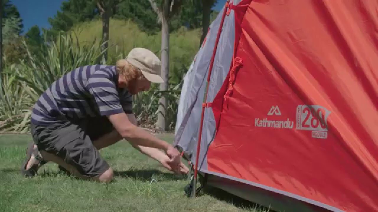How to Pitch a Kathmandu Retreat 280 Tent & How to Pitch a Kathmandu Retreat 280 Tent - YouTube