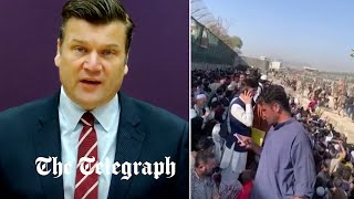 video: Britons told to leave Kabul airport over terror fears