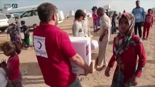 مصر العربية | الهلال الأحمر التركي يوزع مساعدات إنسانية عاجلة لـ 200 عائلة موصلية