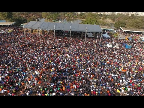 Drone Shots Of The Final Nasa Rally At Uhuru Park