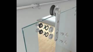 видео раздвижные стеклянные двери
