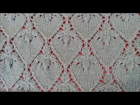 Strawberry Lace Stitch / Knitting pattern 21 - YouTube