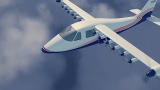 X-57 Maxwell Electric Airplane Flight Simulation