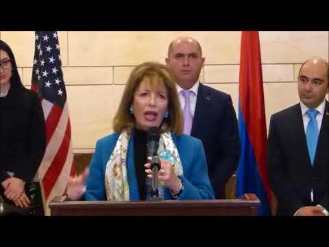 Rep. Jackie Speier (D-CA) Welcomes Armenia-U.S. Parliamentary Delegation