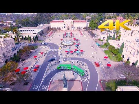 San Diego Balboa Park in 4K -  DJI Phantom 3P & DJI Osmo