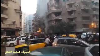 السيوف شماعة حريق ف محل سمك وانفجار انبوبة غاز بشارع وادي الملوك