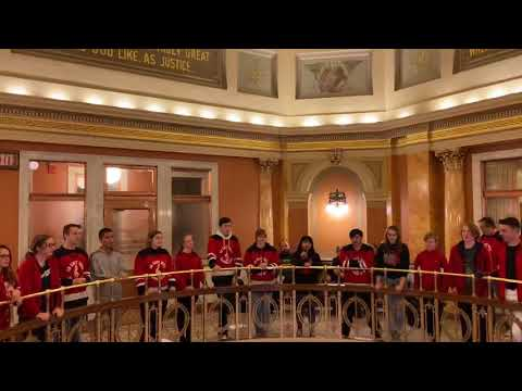 Green Bay East High School performing at Brown County Courthouse.