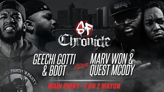 Geechi Gotti & BDOT vs Marv Won & Quest Mcody :: #Chronicle Shots Fired Rap Battle