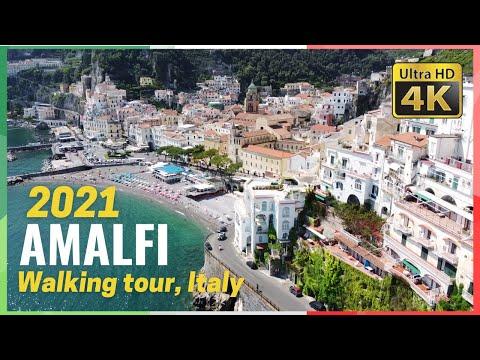AMALFI walking tour 4K - May 2021 [Italy ]