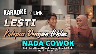 Kulepas Dengan Ikhlas Karaoke Nada COWOK    + Lirik    Lesti - Cipt. Adibal Sahrul