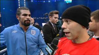 Adam Booth Interview ; I'm embarrassed at Davids performance !