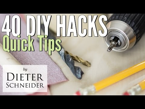 40 DIY Hacks for Handy People and Woodworkers