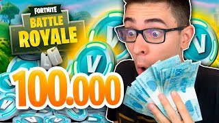 I BOUGHT 100,000 V-BUCKS AT FORTNITE AND BOUGHT IT ALL!!!