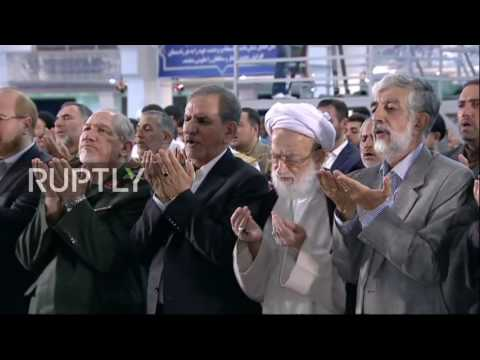 Iran: Ayatollah Khamenei leads Eid al-Fitr prayers at Tehran's Great Musalla