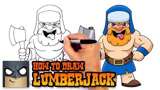 How to Draw Lumberjack | Clash Royale