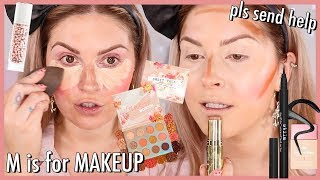 Doing My Makeup In Alphabetical Order 🆘 MAKEUP CHALLENGE