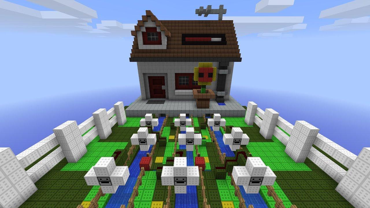 Minecraft plants vs zombies youtube for Zombie build
