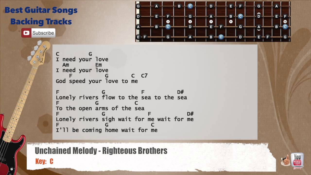 Unchained melody righteous brothers bass backing track with unchained melody righteous brothers bass backing track with scale chords and lyrics hexwebz Gallery