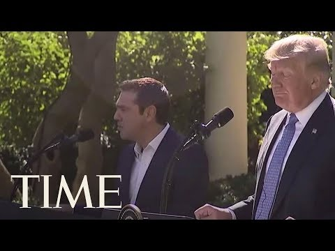 "President Trump Reacts To Being Told The Greek Prime Minister Called Him ""Evil"" 