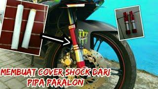 Cara Membuat Cover Shock dari Pipa Paralon    Cover Shock Mx king    MK 59