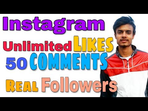 How to Increase Instagram Likes and Followers|1 Click Unlimited LIKES| 60 Auto Comments 2018