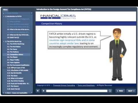 Introduction to the Foreign Account Tax Compliance Act (FATCA) - Online Training Course (sample)