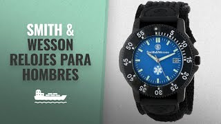 10 Mejores Ventas De Smith & Wesson: Smith & Wesson Men's SWW-455-EMT EMT Black Nylon Strap Watch