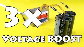 Voltage Booster | How to Increase Voltage Using Diodes and Capacitor