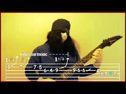 Cold Day In Hell Guitar Solo With Guitar Tabs In Real-time - Dr. Clean Strings