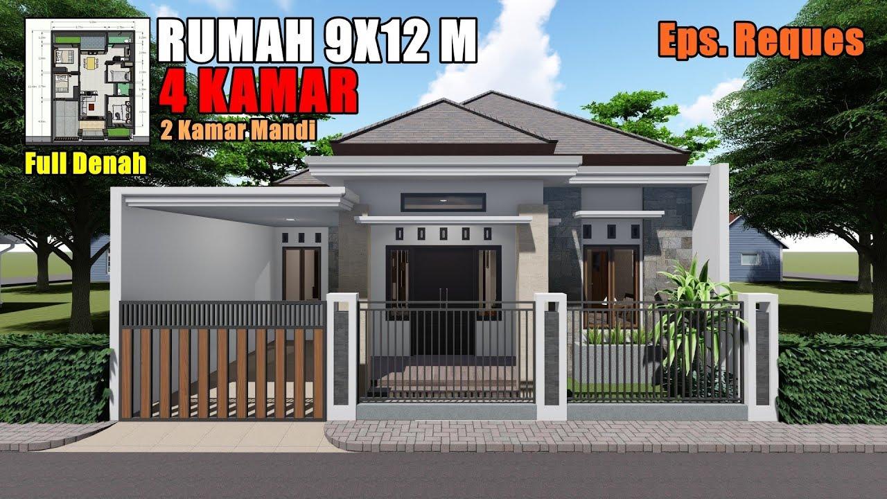 Desain Rumah Tropis Modern 9x12 M 4 Kamar Tidur Youtube